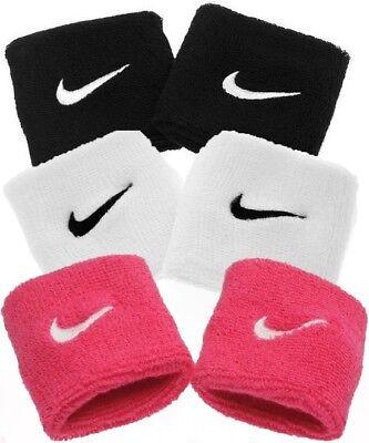 ✅2 X Nike Swoosh Schweißband Schwarz Weiß Handtuch Aerobic Fitness Joggen Tennis Angenehm Im Nachgeschmack