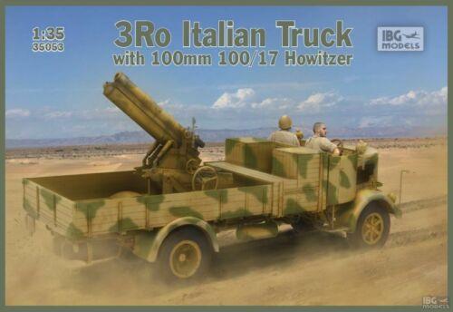 Camion Italien LANCIA 3Ro avec obusier 100 mm - KIT IBG Models 1/35 n° 35053