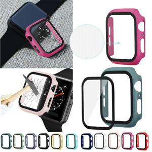 Protector de Pantalla de Cristal Templado + Funda para Apple Reloj 38-44mm Serie
