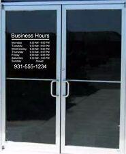 Custom Business Store Hours Decal Stickers Business Window Door Lettering Hours