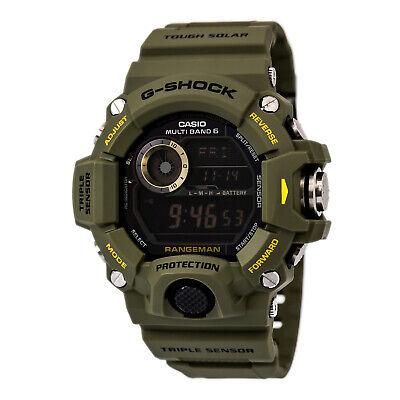 Casio GW9400-3 Men's G-Shock Black Digital Dial Olive Resin Strap Chrono Watch