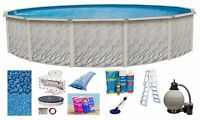 30'x52 Ft Round Meadows Above Ground Steel Wall Swimming Pool & Liner & Kit on sale