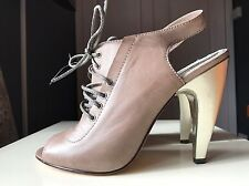 All Saints Designer Ladies Women Peeptoe Ankle High Heel Sandal Boot Size 8 41