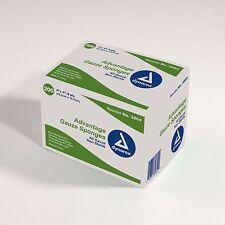 200 Advantage Gauze Sponges Dynarex 4 x 4 8 ply Bandages Wound Non-Sterile 3264