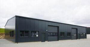 DELTACON Stahlhalle Büro Werkstatt Produktion 18 x 25 x LH 5/ FH 7 m isol.