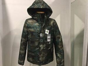 low priced 06050 f948d Dettagli su BLAUER Uomo - Piumino mimetico con cappuccio - Col. Mimetico  (militare)