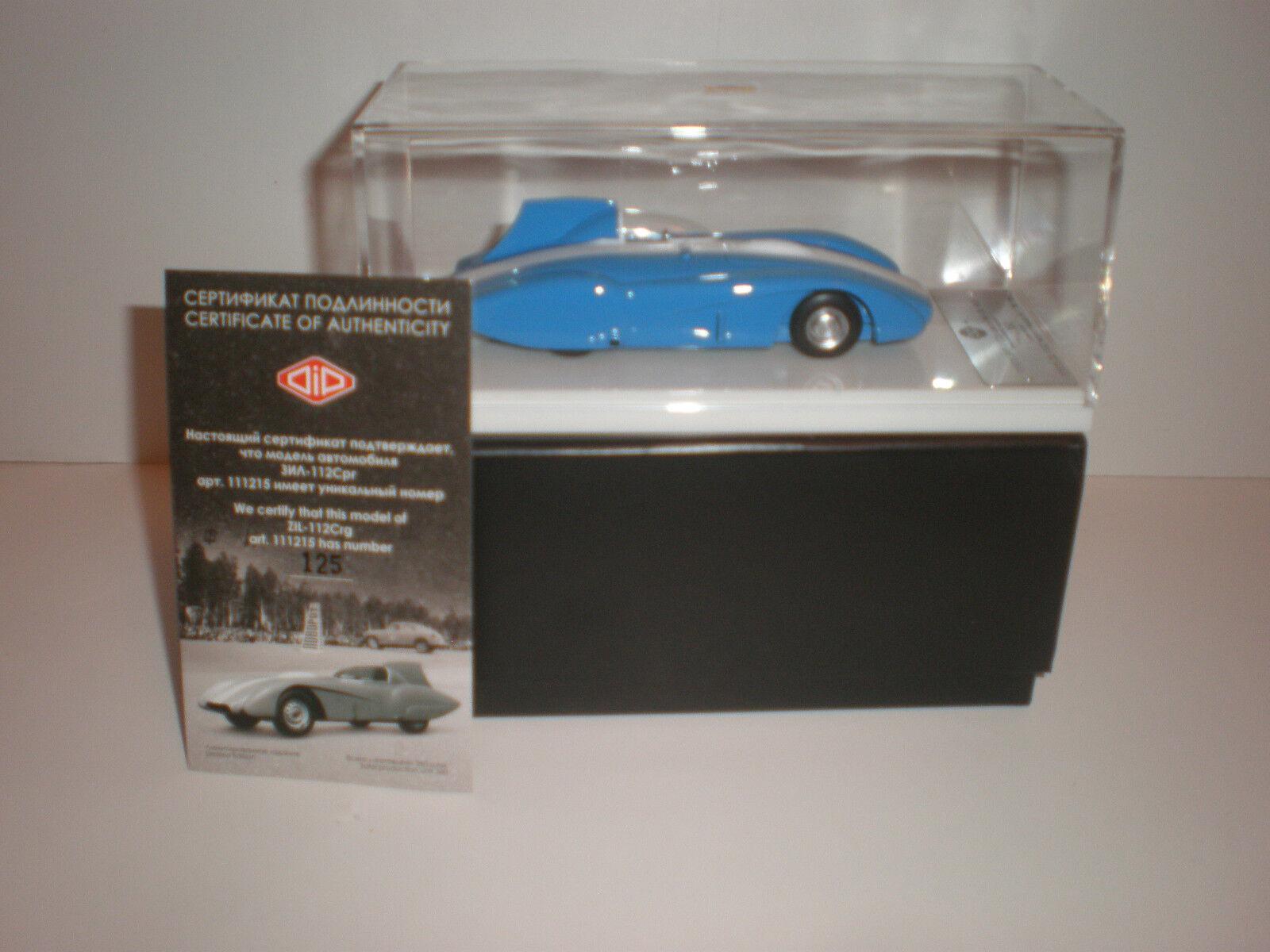 1 43 Modelos Dip registro ruso coche ZIL-112C 1962 Art. 111215