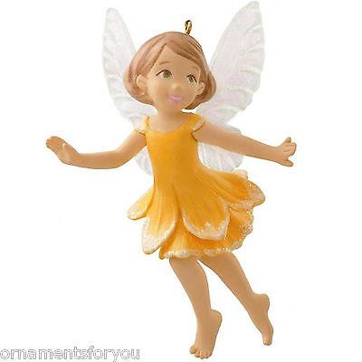 Hallmark 2014 Daffodil Fairy The Fairy Messengers series Ornament creased box