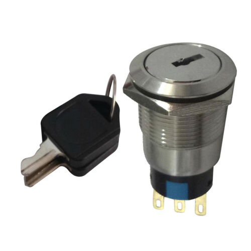 Off//On Metal Rotary Key Switch Security Lock with Keys 2 Position IP67//IK10