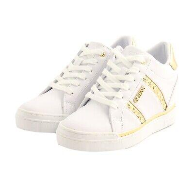 SNEAKERS ZEPPA GUESS donna pelle bianca e beige. scarpe