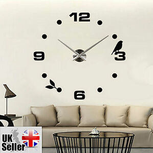 3D Wall Clock DIY Modern House Office Decoration Interior Room Decoration