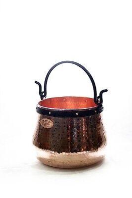 Coppergarden® Kupferkessel ❀ 5 Liter ❀ Hexenkessel ❀ Lagerküche ❀ Kupfertopf Ohne RüCkgabe