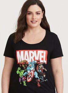 506ba075 Avengers Infinity War Heroes Women's T-Shirt Torrid L 1X 3X 4X | eBay