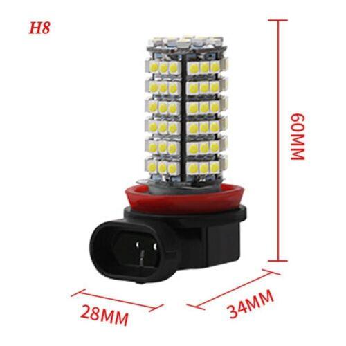 White H11 H8 120 SMD 3528 LED Bulbs for Fog Lights Running Lights Car Headlight
