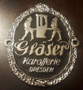 Plakette-Karosserie-Glaeser-Vorkriegs-Emblem-fuer-BMW-Opel-6-Horch-Ford