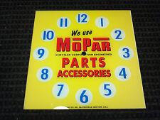 "*NEW* 15"" MOPAR PARTS OIL GASOLINE HOT ROD SQUARE GLASS clock FACE FOR PAM"