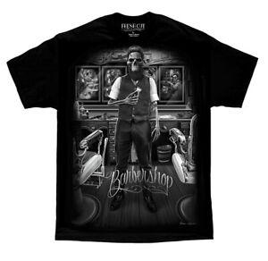 DGA-David-Gonzales-Art-Fresh-Cut-Barber-Shop-Hair-Skull-Rockabilly-Biker-T-Shirt