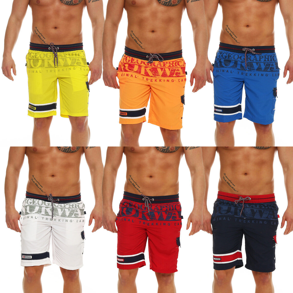 Geographical Norway Quordero Swimming Trunks Shorts Trousers Summer Bermuda New