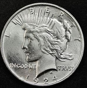 1924-p Peace Silver Dollar.  B.U.    (INV.A)