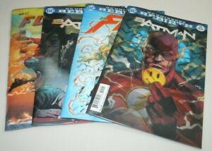 Batman-Flash-21-22-Comic-LOT-DC-Rebirth-Button-COMPLETE-Set-Lenticular-VARIANT