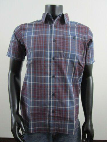 NWT Mens Columbia Boulder Ridge Classic Short Sleeve Button Up Casual Shirt Blue