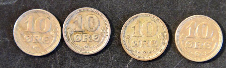 Danmark, mønter, 10 øre