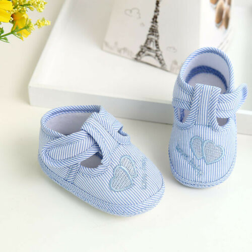 Newborn Baby Kids Shoes Girls Boys Print Sole Crib Toddler Shoes Canvas Sneakers