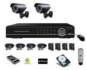 Camera-surveillance-700-TVL-longue-portee-avec-zoom-DVR-IP-4voies-DD-500Go