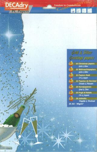 DECAdry Golden burbujas temática celebración de artes y artesanías A4 papel de escribir