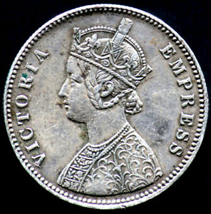1-RUPEE-1879-C-INDE-BRITANNIQUE-BRITISH-INDIA-argent-silver-Victoria