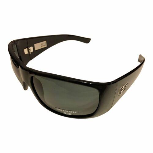 POLARIZED Gray Lens Gloss Black Frame NEW Hoven Vision Ritz Sunglasses