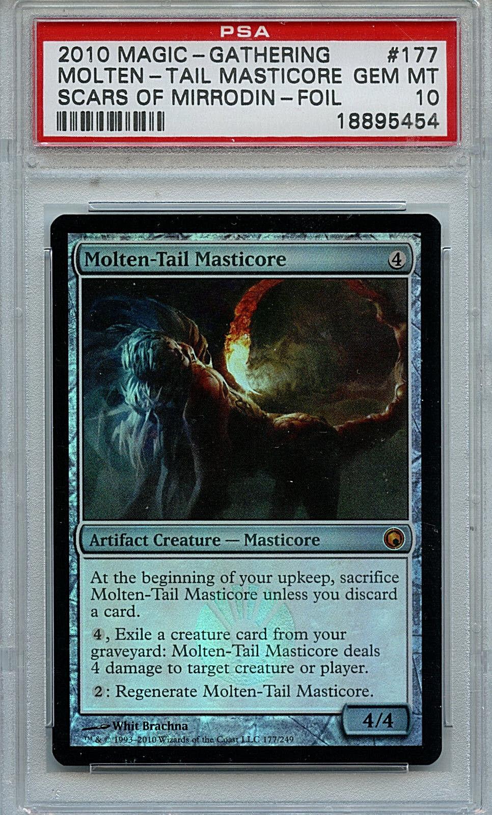 MTG Molten-Tail Masticore PSA 10 Gem Mint Scars of Mirrodin Foil Magic Card