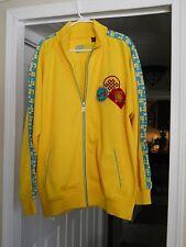 """Men's """"Royal Blue"""" Lightweight Zippered Yellow Jacket Size XL"""