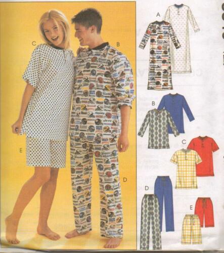 Men/'s and Teens Nightshirt McCall/'s 3849 Misses/' Pants and Shorts Tops