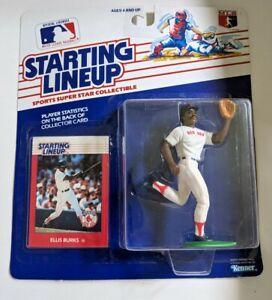 1988  ELLIS BURKS Kenner Starting Lineup SLU BOSTON RED SOX MLB Figure Card New