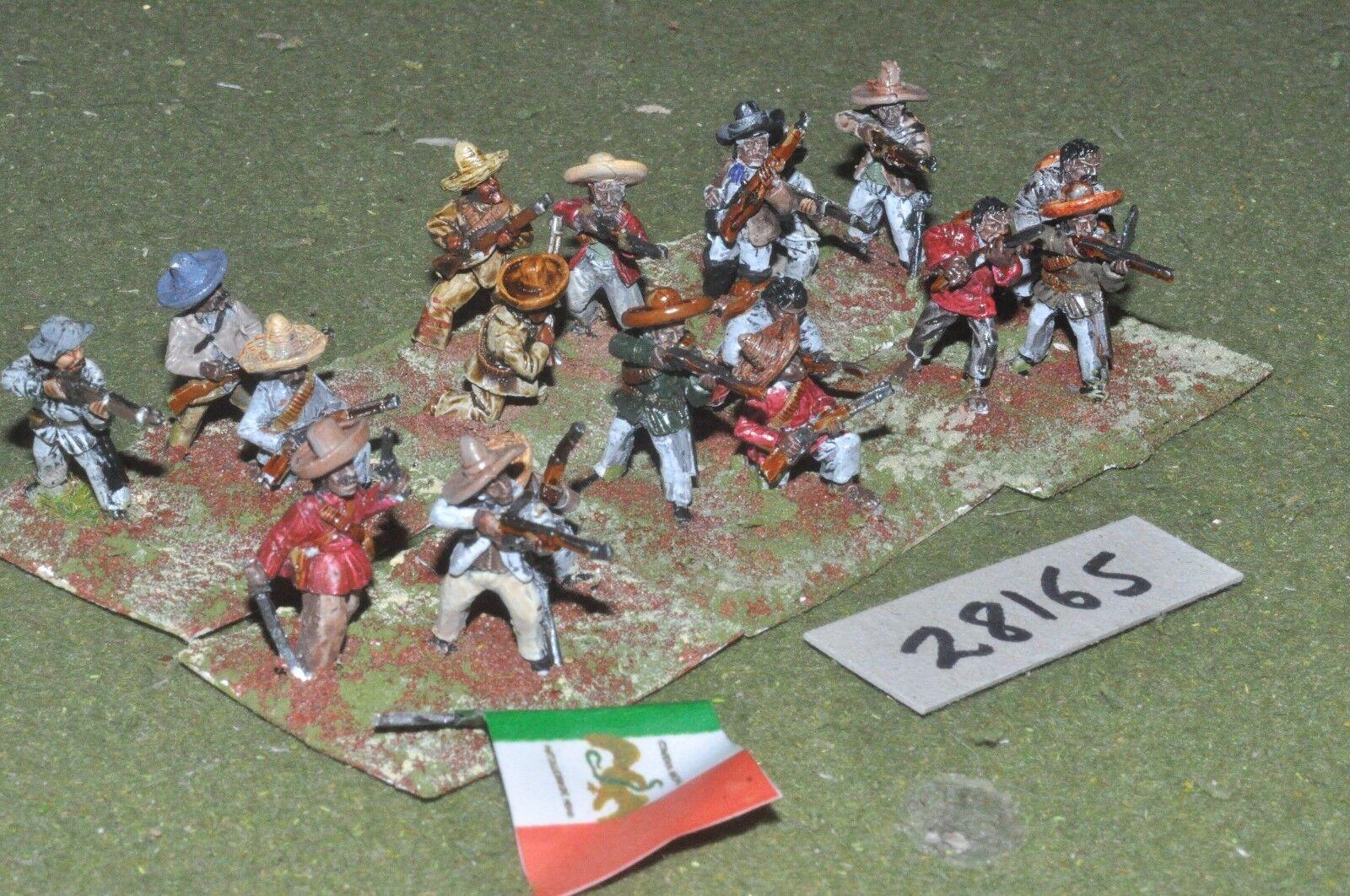 25mm colonial   mexican - maximillian adventure militia 18 figures - inf (28165)