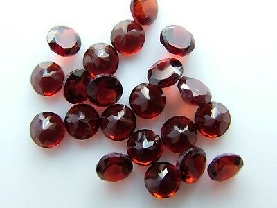 AAA Qualit 10 Piece Natural Red GARNET 5x5 MM Round Cut Loose Gemstone