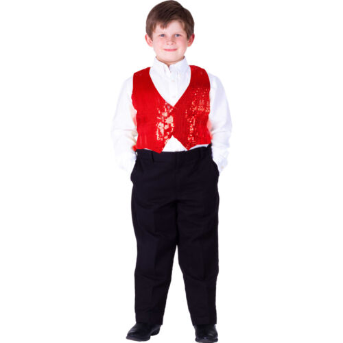 Silver Gold or Red Dress Up America Teen and Boys Sequin Vest