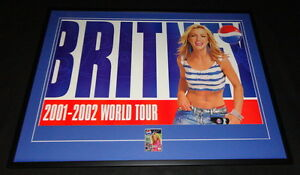 Britney-Spears-Signed-Framed-31x41-034-2001-Pepsi-Tour-Poster-Display-JSA