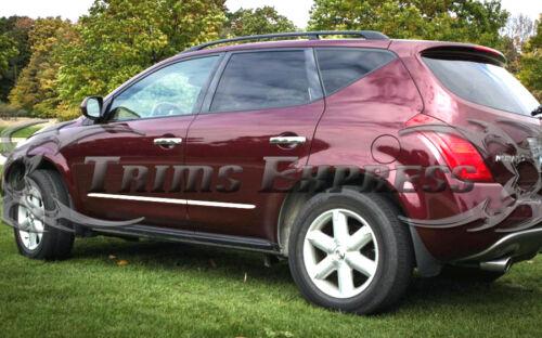 "fits 2003-2007 Nissan Murano Chrome Flat Insert Body Side Molding Trim 7//8/"""