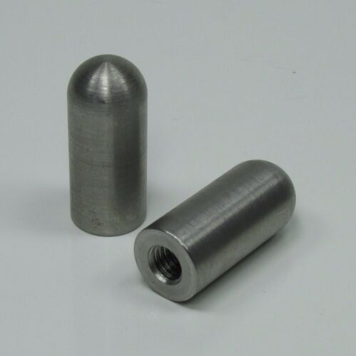 """3//8/""""-16 Bullet Threaded Steel Bungs QTY 4 DIY Fabrication Builder USA MADE 1.75/"""""""