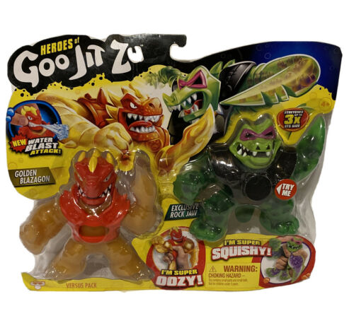 Golden Blazagon and Exclusive Rock Jaw Action Figure 2PK! Details about  /Heroes of Goo Jit Zu
