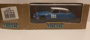 VITESSE-1-43-CITROEN-DS-19-MONTE-CARLO-WINNER-1966-NEUF-EN-BOITE
