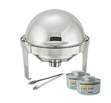 Winco Round Roll Top Chafer,Stainless Steel Chafing Dish Set