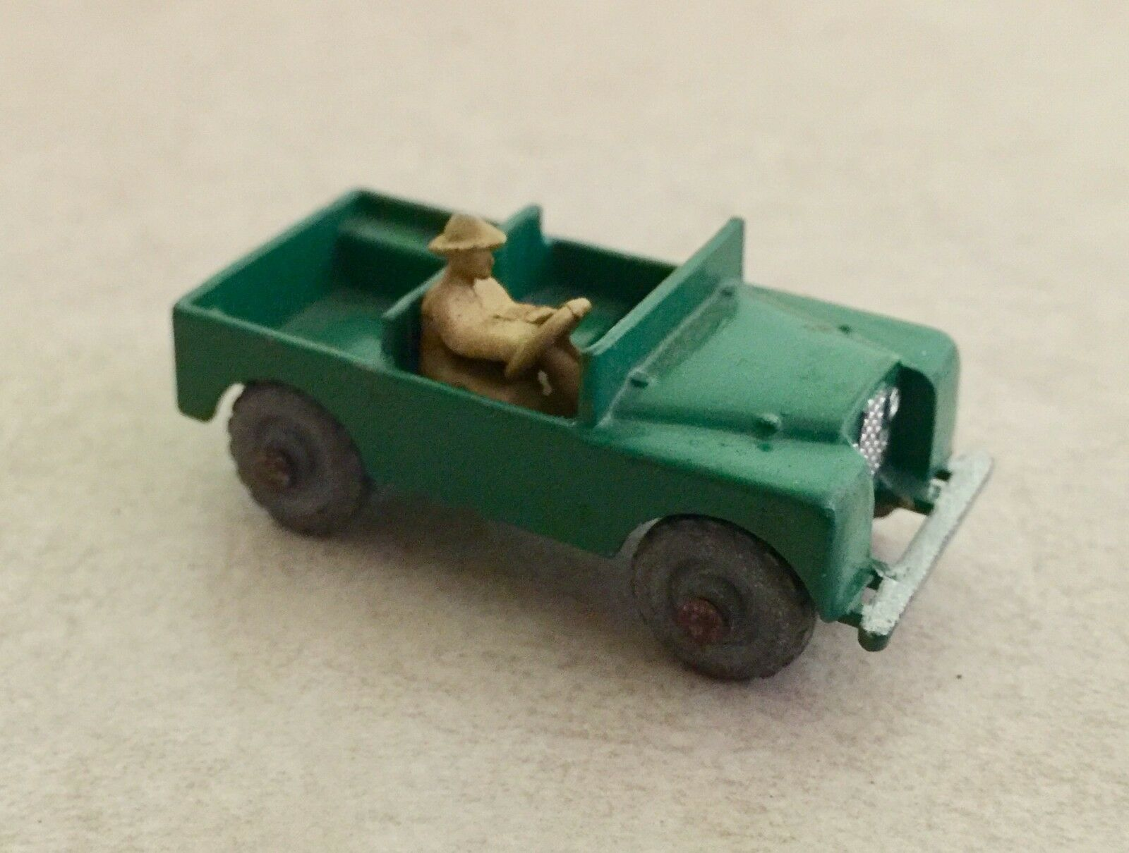 Rare Vintage Lesney Matchbox England Land Rover Green Safari Jeep a - Mint
