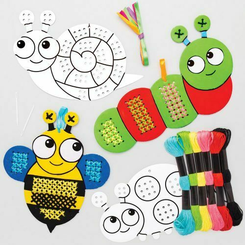 CROSS STITCH Kids Kit BUG INSECT BEE SNAIL LADYBIRD CRAFT Beginners Sewing