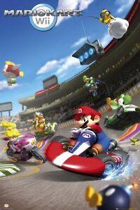 Nintendo-Mario-Kart-Wii-POSTER-61x91cm-NEW-Peach-Bowser-Luigi-Yoshii-racing