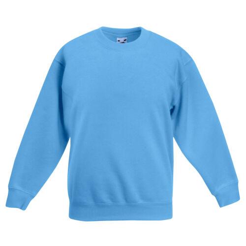 Fruit of the Loom enfants Premium Drop épaule Sweatshirt Pulls Tops