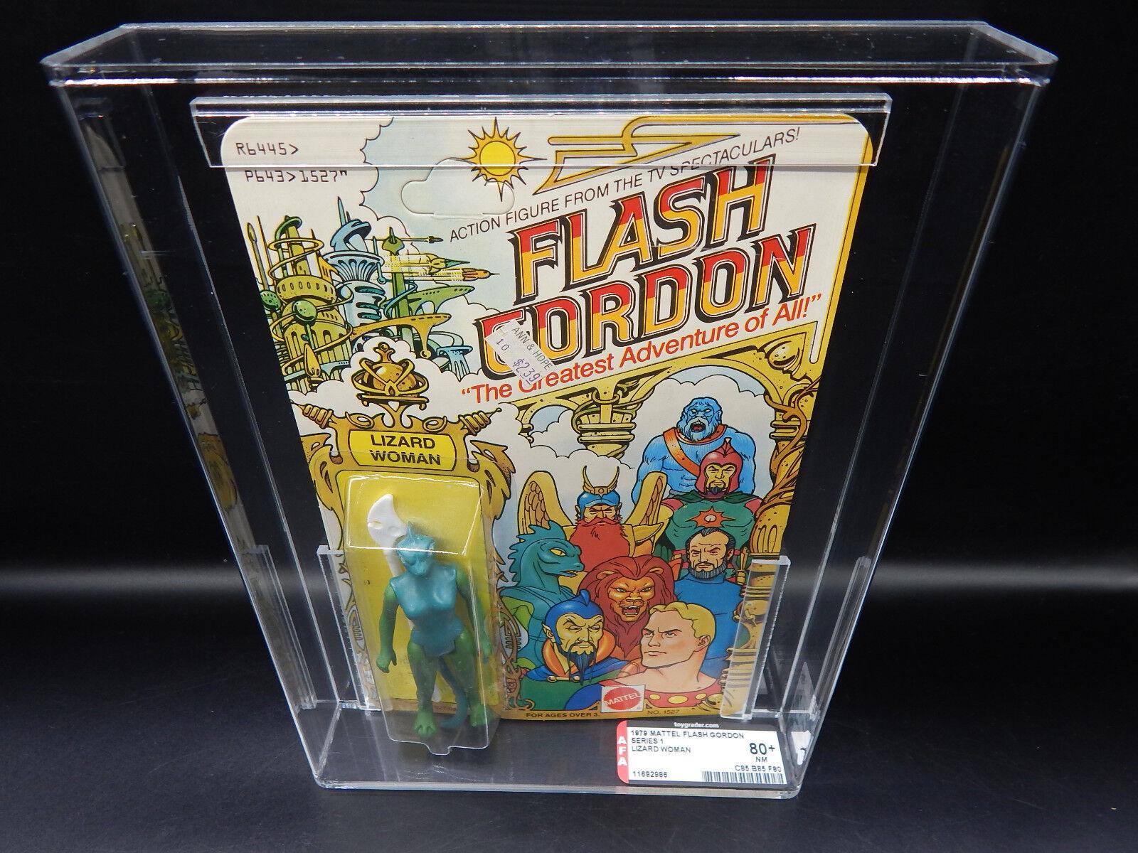 AFA 80+ 1979 Vintage Mattel Flash Gordon Lizard Woman Action Figure MOC Sealed
