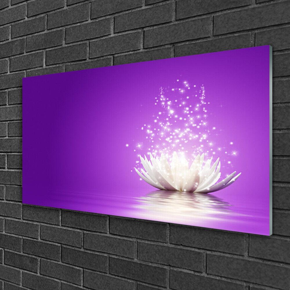 Tableau sur verre Image Impression 100x50 Floral Fleur De Lotus